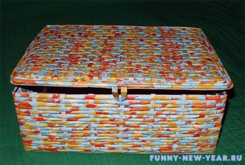 Коробка из коктейльных трубочек