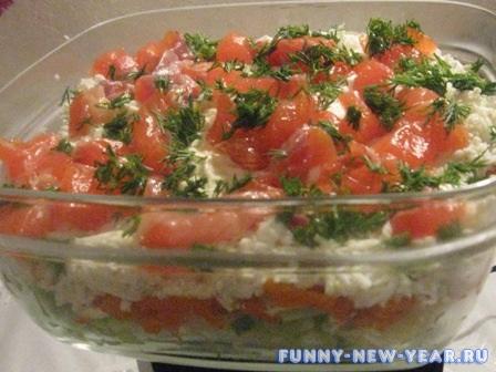 Салат с соленой треской