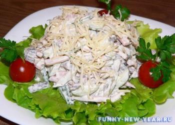 Салат орехи с грибами