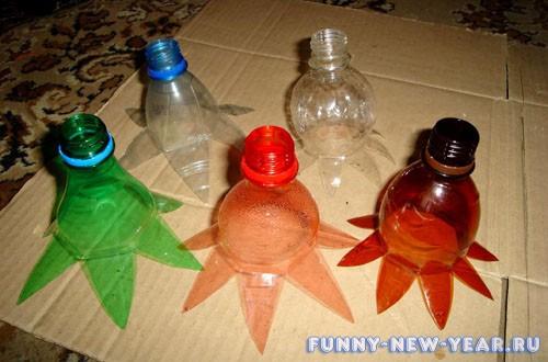 Поделки из пластиковых бутылок к Новому году 2020 - ТОП 7