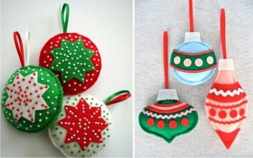 Новогодняя игрушка в виде шара своими руками