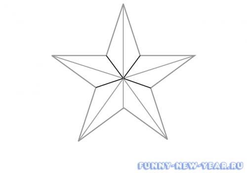 как нарисовать новогоднюю звезду