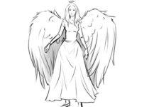 Как нарисовать ангела 3
