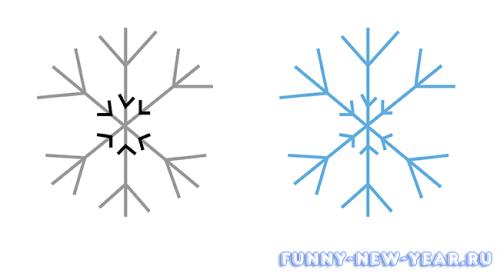 Рисуем основу снежинки