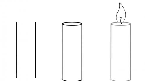 Как нарисовать свечу