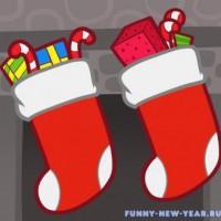 Уроки рисования носка для подарков к Новому году 2020