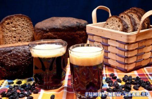 Кисель из черного хлеба