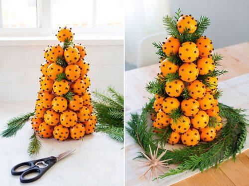 5 фото идей ароматных поделок из мандарин к Новому году 2020 своими руками