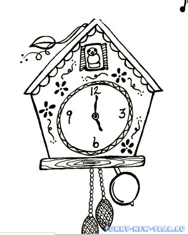 новогодние часы с кукушкой