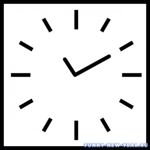 новогодние часы в виде квадрата