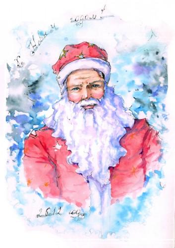 портрет Санта Клауса