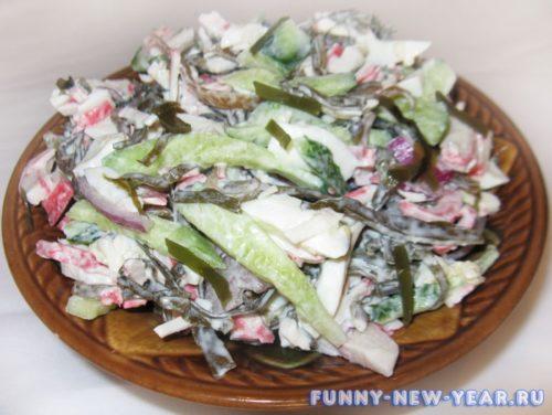 Салат из ламинарии с мясом