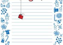 бланки для писем деду морозу