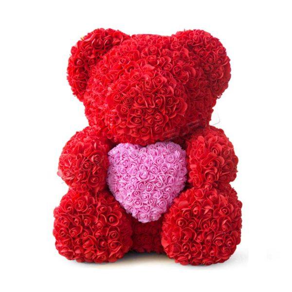 мишка из роз в подарок