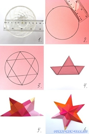 фото инструкция как сделать 3д звезду