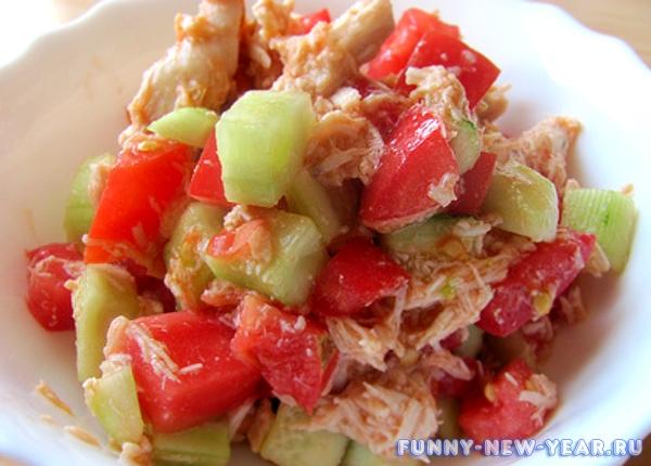 легкий салатик фото
